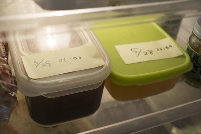 冷蔵庫で漬け込み