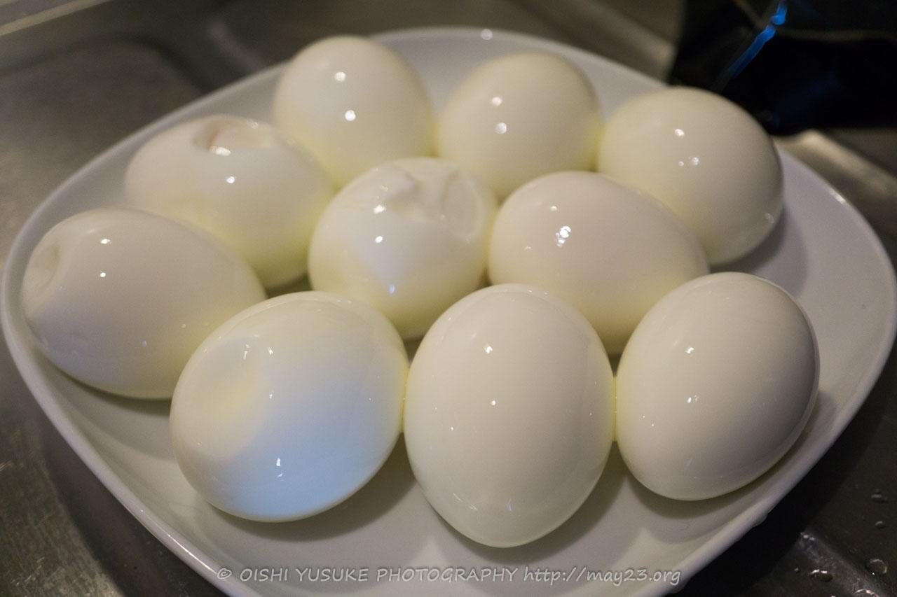 つるんと剥けた卵