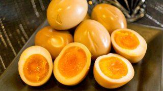 【燻製レシピ】味付き玉子は『味の母』で味付け、美味しい半熟燻製卵の作り方