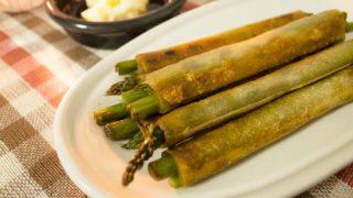【おつまみレシピ】アスパラ春巻き。揚げ焼きで旬の素材を閉じ込めろ!